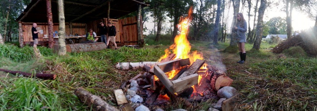 Sit round a cosy camp fire at Ace Hideaways