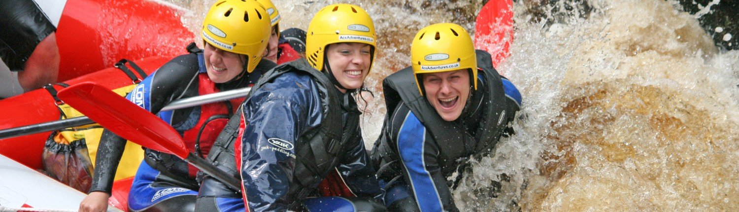 White Water Rafting on the RIver Findhorn. Something to suit everyone from young families to groups and the experienced with stunning scenery and up to Grade 4 rapids.